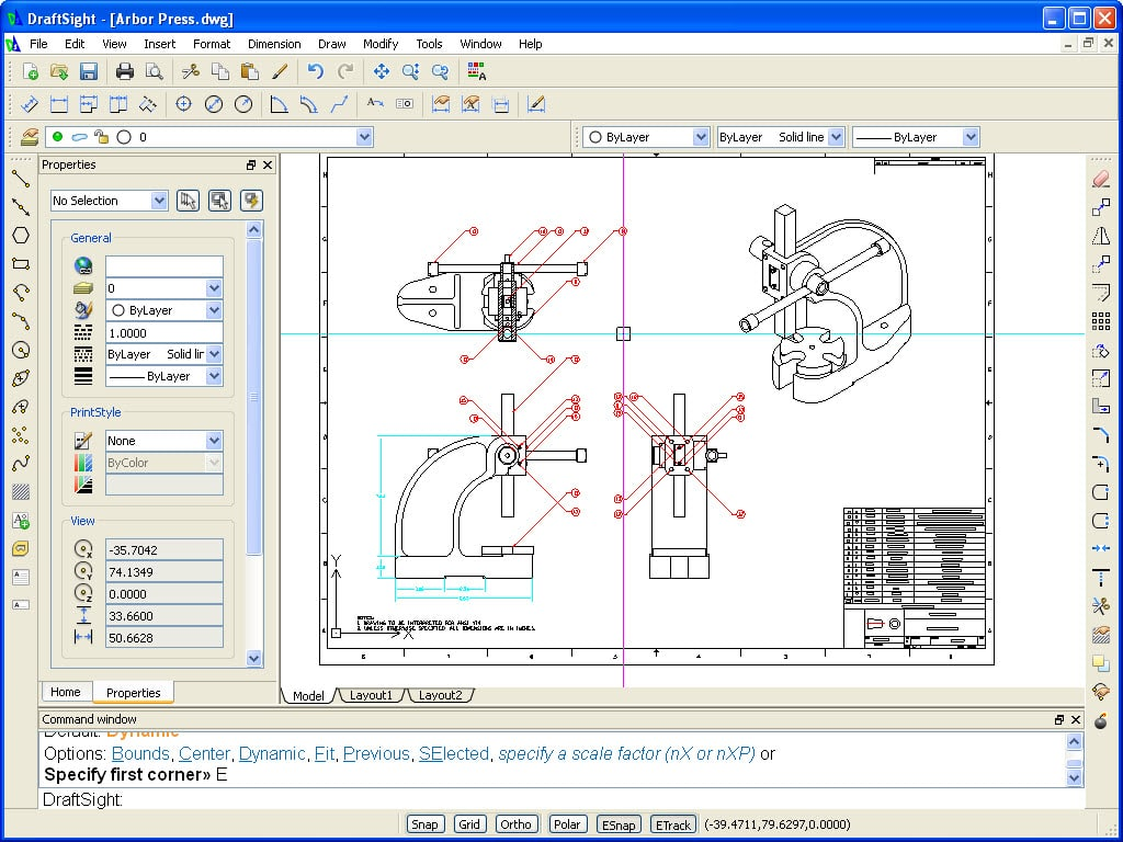 Draftsight free 2d dwg editor cadtek systems for Online autocad drawing