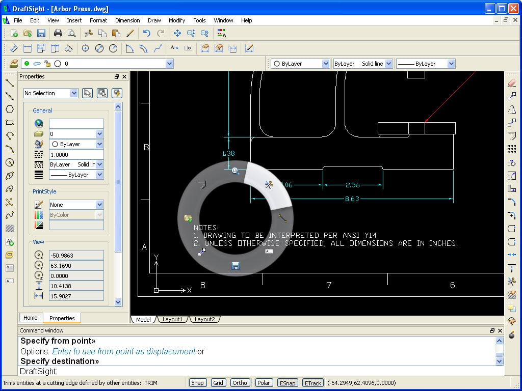 Draftsight free 2d dwg editor cadtek systems for Online cad editor